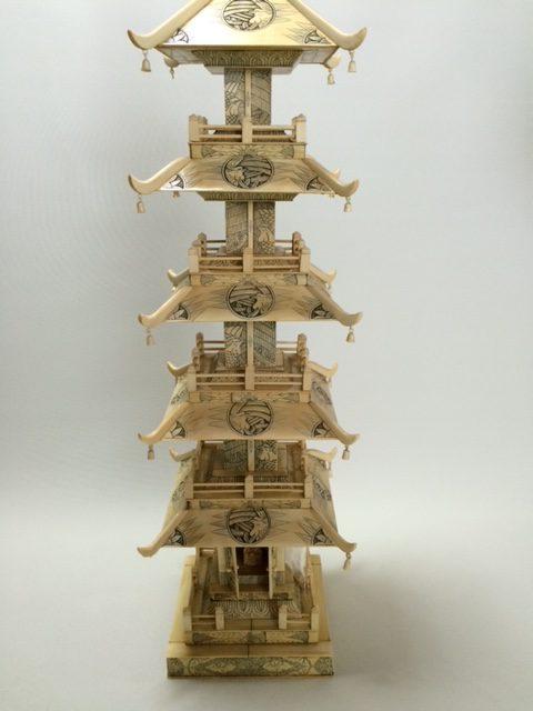 長野県より象牙五重塔お買取しました
